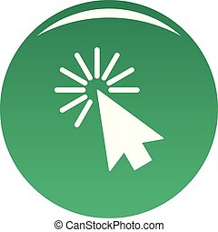 Cursor interface element icon vector green