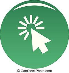 Cursor interface icon vector green
