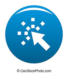 Cursor internet icon blue