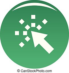 Cursor internet icon vector green