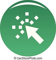 Cursor internet icon vector green