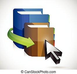 cursor, livro, desenho, ilustração