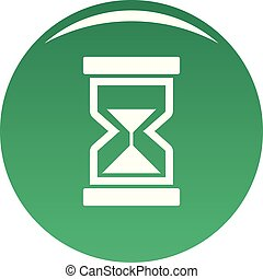 Cursor loading element icon vector green