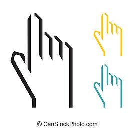 cursor, mão