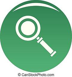 Cursor magnifier icon vector green
