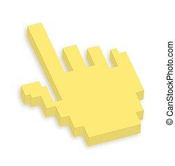 cursor, mano