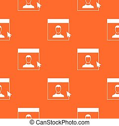 Cursor point man on monitor pattern seamless