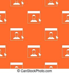 Cursor point man on monitor pattern seamless