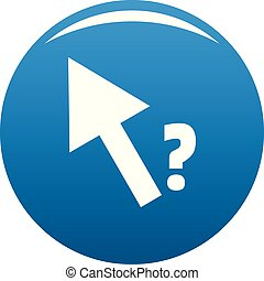 Cursor question icon blue vector