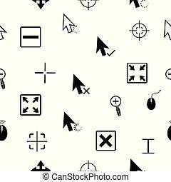 cursor seamless pattern background icon.