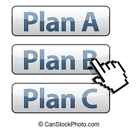 cursor selecting plan illustration design on white...