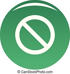 Cursor stop element icon vector green