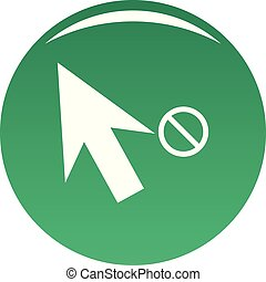 Cursor stop icon vector green