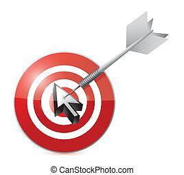 cursor target illustration design