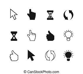 cursor, un, icono