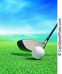 cursus, bal, golf