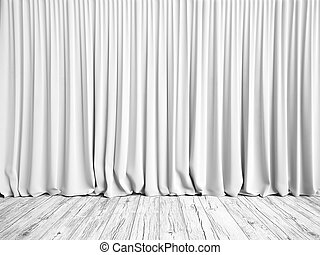 Curtain background. 3D rendering
