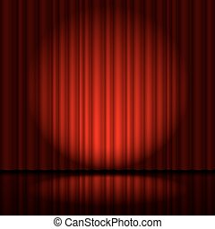 Curtain from the theatre - Red curtain from the theatre with...