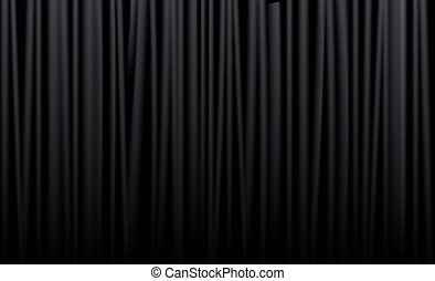Curtain from the theatre - Black curtain from the theatre...