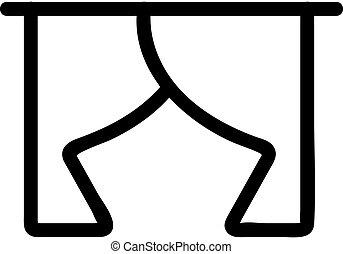 curtain icon vector. Isolated contour symbol illustration