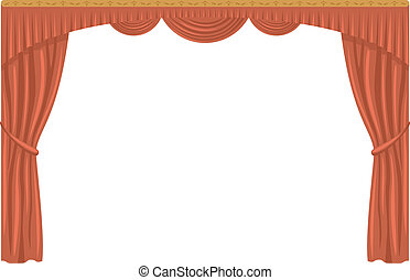 Curtain, isolated