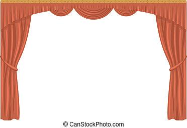 Curtain, isolated