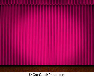 Curtain on the stage
