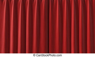 Curtain opening red HD