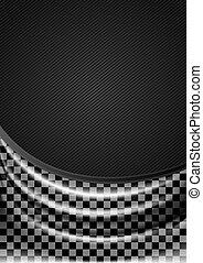 Curtain, silk tissue on checkered background. Vector 10eps