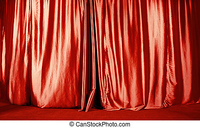 Curtain - Red curtain on the red stage