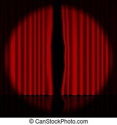 curtain., strumienica, vector., rusztowanie