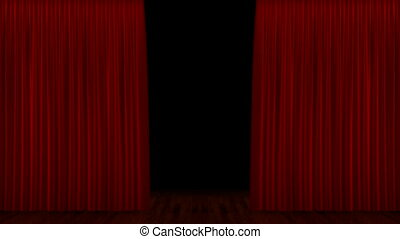 Curtain up, with beautiful cloth pattern. Alpha channel is included. You can rewind the video and drop the curtain