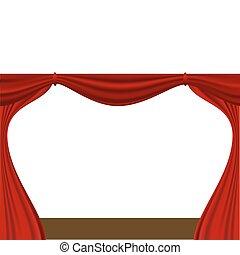 curtain - vector