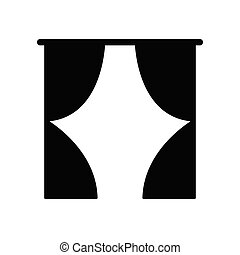 curtain vector icon black sign