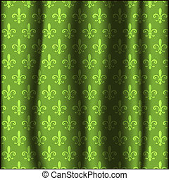Curtain with pattern