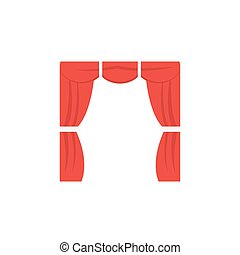 curtains flat icon
