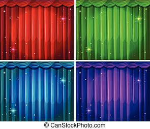 Curtains - Four different colors of beautiful curtains