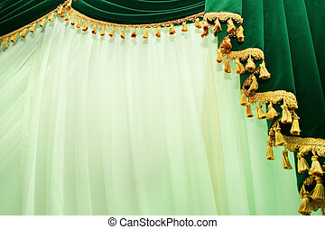Curtains - Picture of luxurious curtains.