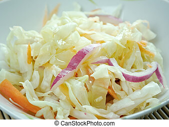 Curtido - lightly fermented cabbage relish. typical in ...