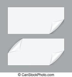 curvado, folha papel