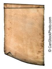 curvado, papel, página, curvas