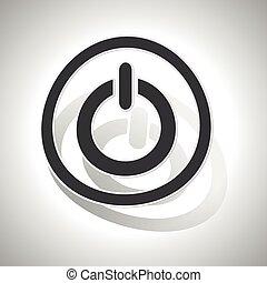 curvado, sinal, poder, ícone