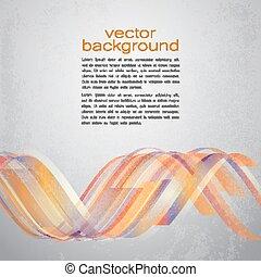 curvas, abstratos, vetorial, fitas, tecno