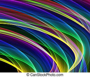 curvas, multicolor