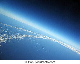 curvatura, de, la tierra
