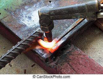 curvatura, quadrado, barzinhos, metal, gás, aquecimento,...
