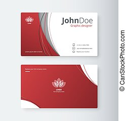 Curve abstract business card background.