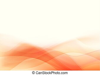 Curve and blend light Orange abstract background 001 -...