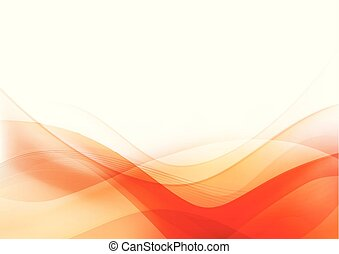 Curve and blend light Orange abstract background 003 -...