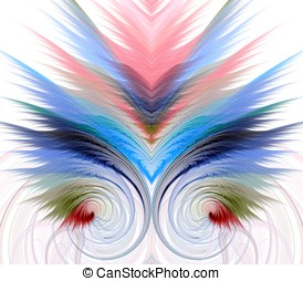Curve and Layers Abstract - Colorful, flowing layers of...